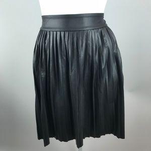Torrid Black Coated Knee Length Pleated Skirt 3X